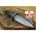 "Handmade Hunting Knives: King ""Janus"" Damascus"